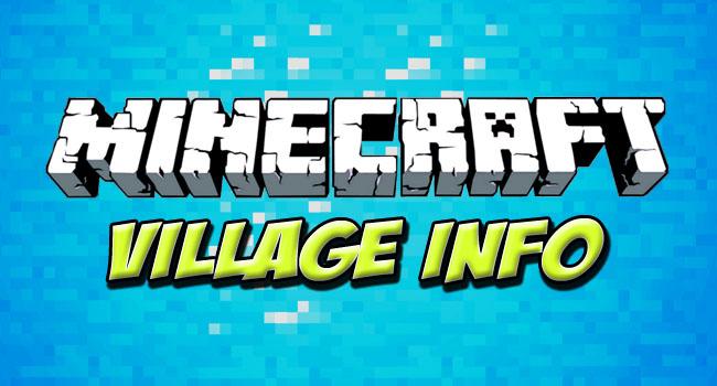 Скачать мод Village Info для minecraft