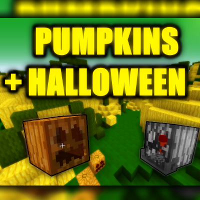 Скачать мод Halloween and Pumpkins для minecraft