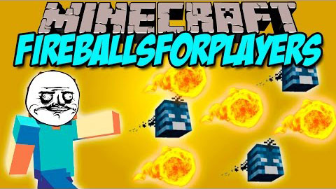Скачать мод FireBalls For Players для minecraft